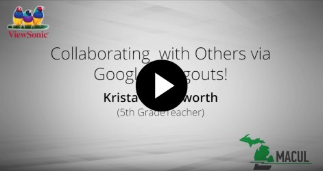Collaborating with Others via Google Hangouts with Krista Harmsworth Videos Apr 2016