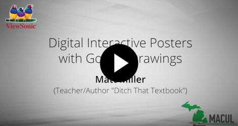 Digital Interactive Posters with Google Drawings with Matt Miller Videos Apr 2016