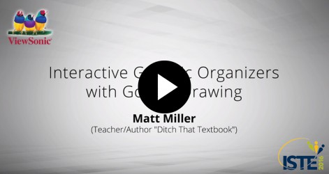 Interactive Graphic Organizers with Google Drawing with Matt Miller Videos Jul 2016